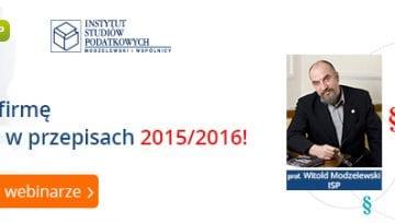 Webinar Comarch: zmiany przepisów podatkowych okiem prof. Modzelewskiego