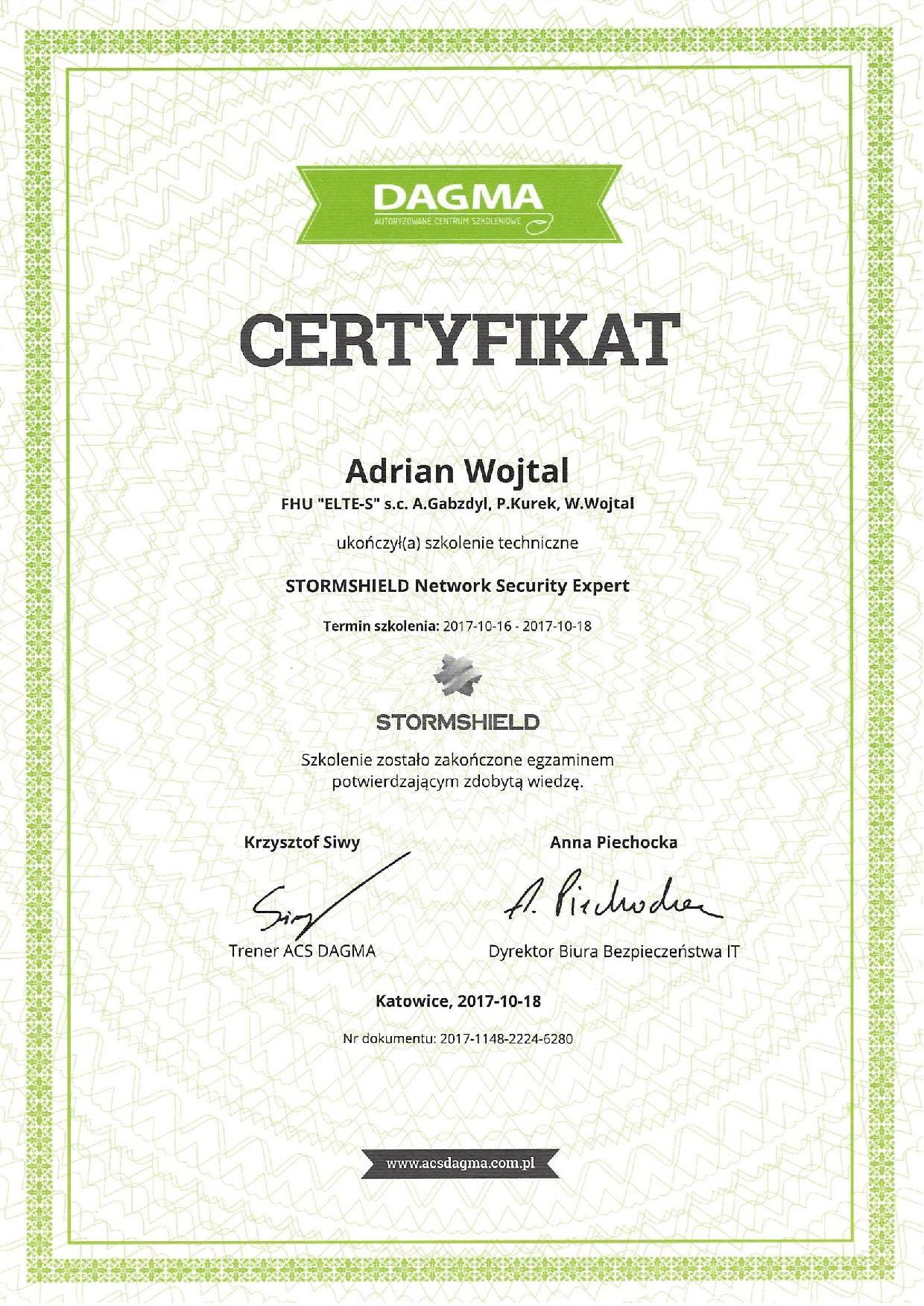 certyfikat stromshield
