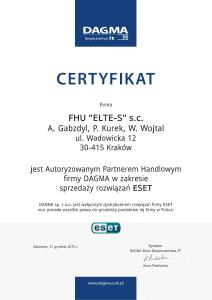 certyfikat_autoryzowany partner eset_ELTE-S-1