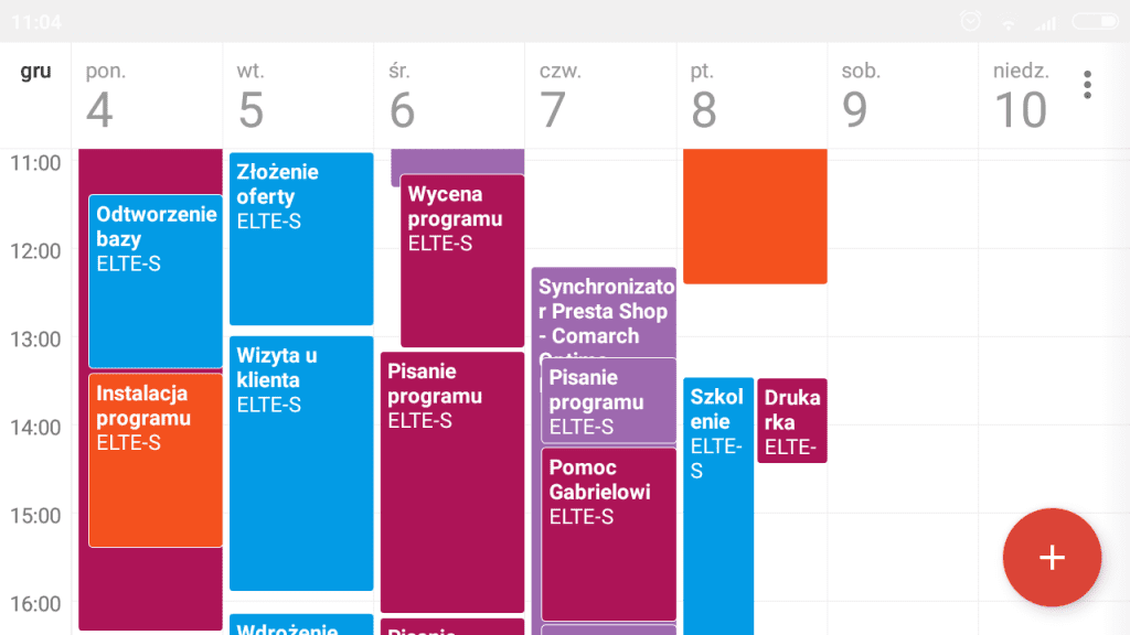 Integracja Google Kalendarz - Comarch ERP Optima