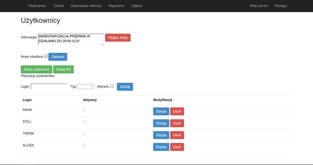 lte-s B2B Optima rezerwacje użytkownicy